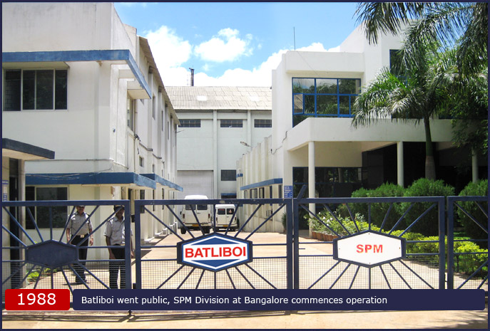Batliboi went public, SPM Division at Bangalore commences operation