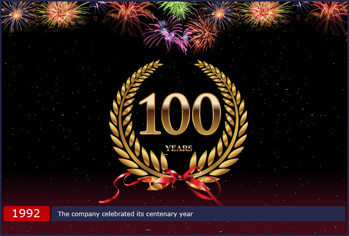 The company celebrated its centenary year